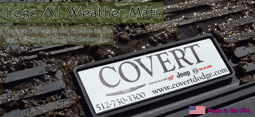 All-Weather Vinyl Mats with logo